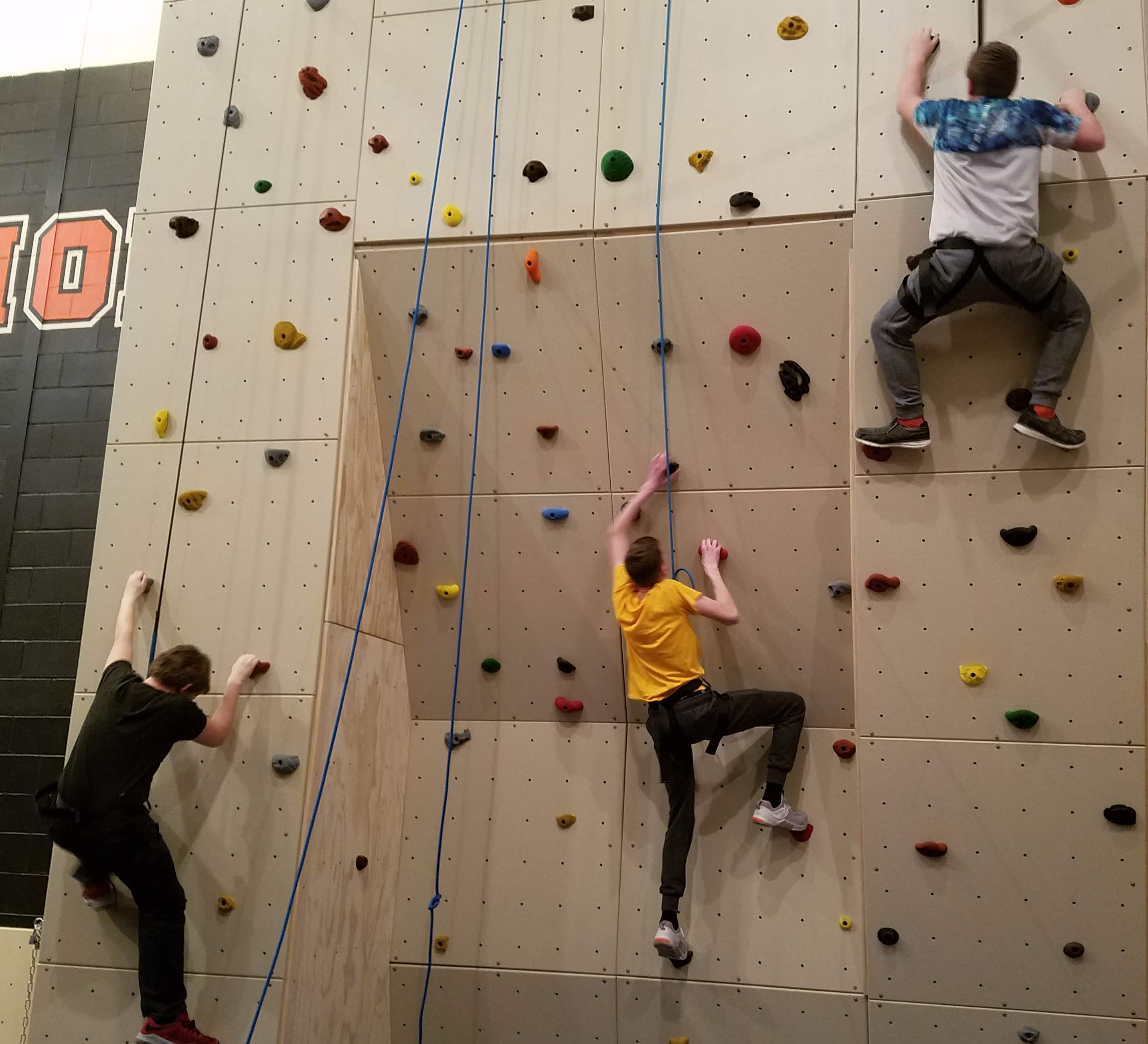 rock wall Charles City Schools